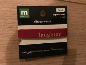 New Expressions Ribbon  laughter enjoy happiness words ribbon inspiration craft