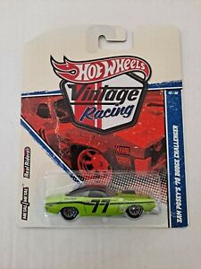 Hot Wheels Vintage Racing Sam Posey's '70 Dodge Challenger  Real Riders # 19/30