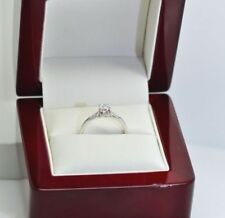 Diamond White Gold Solitaire with Accents Fine Rings