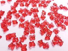 100 RED Acrylique Cristal Papillons for Décoration De Table Mariage, Confettis