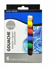 Daler Rowney 12ml Simply Gouache 6 Colors Paint