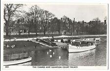 """The Thames & Hampton Court RP PPC, Unposted, Pleasure Steamer """"Clifton Castle"""""""