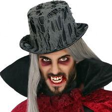 Cappello nero a cilindro fantasma vampiro con ragnatela 80ec1698e5d2