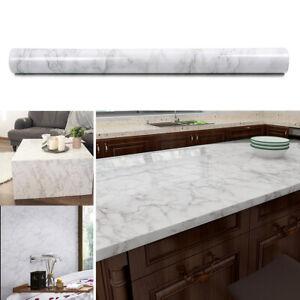 5M Kitchen Marble Wall Stickers Peel & Stick Waterproof Floor Decals Table Decor