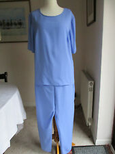 Pale blue matching top and trousers suit - size 22