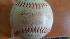 1957 NY Yankees Team Signed Baseball Autos Mantle, Casey, Ford, Dickey facsimile