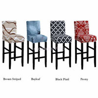 Comfortable 2pcs Bar Stool Seat Covers Counter High Chair Protector Slipcover
