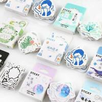46PC Kawaii Paper Stickers Stationery DIY Scrapbooking Diary Label Album Decor