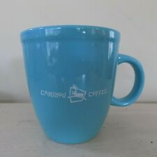 Caribou Coffee Light Blue 14 oz Mug Life Is Short Stay Awake For It