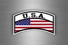 Autocollant sticker voiture moto drapeau usa etats unis aviation militaire