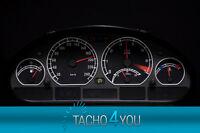 Tachoscheibe für BMW Tacho E46 Benzin oder Diesel M3 Schwarz 3070 Tachoscheiben