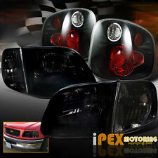 2001-2003 Ford F150 SVT Lightning/King Ranch Black-Smoked Headlight + Tail Light
