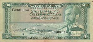 Ethiopia 1 Dollar, Haile Selassie, banknote !!!
