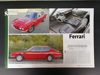 Fiat Dino Ferrari in Disguise - Original 6 Page Color 2016 Article