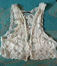 Gorgeous cream lace waistcoat from Atmosphere, size small