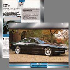 BMW 840 CI - Voiture d'exception - Fiche - Caractéristique Technique - car card