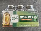 Ball Glass Mason Jars with Lids & Bands, Wide Mouth, 64 oz Half Gallon, 6 Count