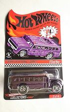 HOT WHEELS RLC SCHOOL BUS PURPLE 2009 SELECTION SERIES 3930 OF 4086 DIECAST MINT