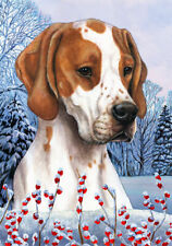 Winter House Flag - Red and White English Pointer 15468