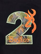 New BAYLOR TWO #2 Toddler Camo Short Sleeve Black T-Shirt Baby Birthday Size 2T