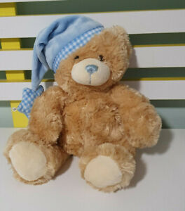 KEEL TOYS TEDDY BEAR BLUE NIGHTCAP 26CM