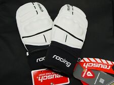 NEW Reusch Leather RACING World Champ Ski Mittens Adult Small 8 4401400INV WHITE