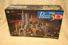 Puzz 3D New York New York (and World Trade Center) 3141 Piece Jigsaw Puzzle Rare