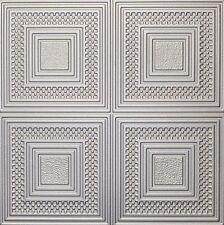 Decorative Ceiling Tiles Styrofoam 20x20 R11 Silver Painted