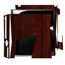 Skinomi Dark Wood Full Body Skin Game Console Cover for Microsoft Xbox 360 Slim