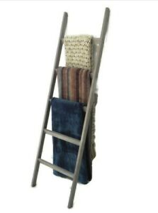 Rustic Blanket Ladder-Stylish wooden rack for blankets,throws,towels,scarves 5FT