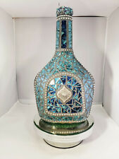 Mosaic Teal/Blue Bottle - Hand Designed Mosaic Bottle Is For Your Home W213