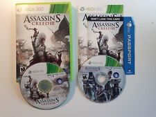 Assassin's Creed III Xbox 360 Game Complete BOTH CD FREE SHIPPING TESTED FAST