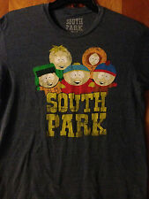 South Park - Cartman, Kenny, Stan, Kyle, Butters - Licensed Blue t-shirt - Large