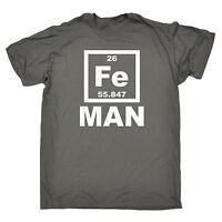 Iron Man Fe T-SHIRT Science Chemistry Humour Nerd Geek Joke Gift birthday funny