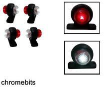 4x SMD ROSSO LED BIANCO 12V Luci di posizione laterali BUS CAMION RIMORCHIO