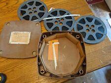 3X LOT RED CROSS TRAINING 16MM FILM 70S MOVIE NURSE SCHOOL REEL CASE RARE VTG