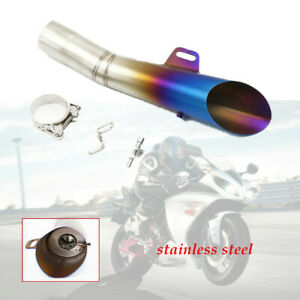 1pcs 51MM Roasted Blue Stainless Steel Muffler Pipe DB-Killer Motorcycle Exhaust