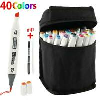 40 Colors Copic Sketch Marker Set Touch Twin Tip Artist Paint Drawing Pens + Bag