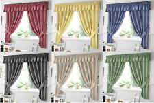"""Green Gingham Embroidered Pelmet to Match Kitchen Curtains L136"""" X W10"""""""