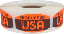 Product of Usa Grocery Market Stickers, 0.75 x 1.375 Inches, 500 Labels Total