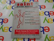 The Saint Mystery Magazine- April 1962 -Leslie Charteris~Cornell Woolrich & MORE