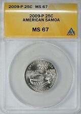 2009-P AMERICAN SAMOA 25c ANACS MS67