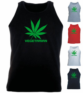 VEGETARIAN Marijuanna Funny New Athletic Vest
