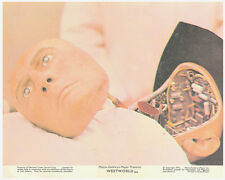 Westworld original 1973 lobby card Yul Brynner robot face in lab