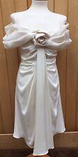 Christian Dior Dress Ivory Satin Rose Ruched Detail Size 38/UK 10