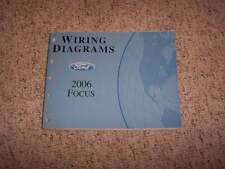 2006 Ford Focus Electrical Wiring Diagram Manual ZX3 ZX4 ZX5 ZXW 2.0L 2.3L 4Cyl