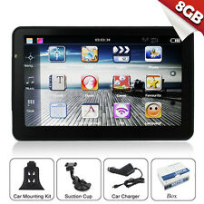 "7"" Inch Car GPS Navigation SAT NAV 8GB Bluetooth Navigator Capacitive screen USA"