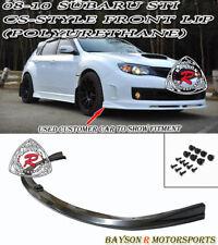 CS-Style Front Lip (Urethane) Fits 08-10 Subaru Impreza STI GRB