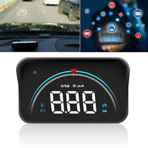 M8 Safety Car Head Up Display OBD2 Overspeed WarningSystem Speedometer Projector