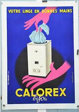 Affiche originale entoilée  années 60  - CALOREX -  80 x 56 cm